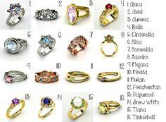 Disney Princess rings!!  <3