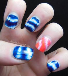 Check out these amazing tie dye nails. What do you guys think?