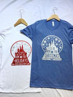 No Place Like Home For The Holidays Shirt / Disney Christmas / Disney Shirt / DVC /Women Disney Shirt/Snow Globe / Disney Castle/Disney Gift Disney Tees, Disney Diy, Disney Love, Disney Magic, Disney Crafts, Disney Shirts Women, Disney Apparel, Disney Christmas Shirts, Disney World Christmas