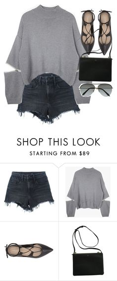 """""""Untitled #4046"""" by olivia-mr ❤ liked on Polyvore featuring Alexander Wang, Loeffler Randall and Victoria Beckham"""