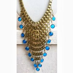 Gold Necklace/Bubble Necklace/Statement by FootSoles on Etsy, $27.90