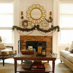 Don't stop at the Christmas tree -- extend your Christmas decorations through the whole living room. Get 30+ new looks here: http://www.bhg.com/christmas/indoor-decorating/pretty-christmas-living-rooms/?socsrc=bhgpin102914focalpoint&page=1