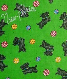 MaRy EngelbreiT SCOTTY Dog & Ball Cotton Fabric on by NsewFabrics, $14.99