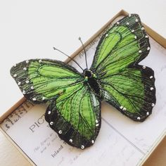 A green Morpho perfect for Saint Patrick's Day, just landed in store .