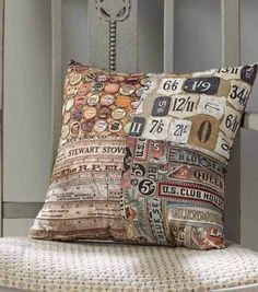Four Patch Pillow by Tim Holtz