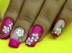 Flower Nail Designs, Acrylic Nail Designs, Nail Art Designs, Acrylic Nails, Creative Nail Designs, Creative Nails, Toe Nails, Pink Nails, Magic Nails