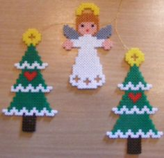 Christmas trees and angel by ki-vi, via Flickr