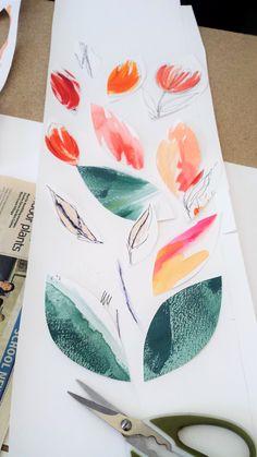 New #art in #colour #collage #mixedmedia #natureinspiredart