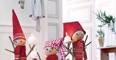 Des bûches de bois transformées en lutins de Noël Noel Christmas, Christmas Crafts, Elf On The Shelf, Diy Tutorial, Holiday Decor, Home Decor, Free, Step By Step, Xmas