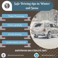 Snowfall during winter may create issues for motorists. Cold temperature may add new driving risk.Safe driving tips for winter to prepare for driving in snow. Low Car Insurance, Safe Driving Tips, Car Quotes, Auto News, Helpful Hints, Traveling Tips, Snow, Train, Vacations