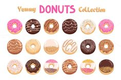 Donuts by Stolenpencil on @creativemarket