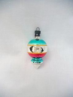 vintage glass Christmas ornament lantern by vintagebyclaudine