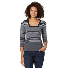 Maine New England Navy variegated stripe top- at Debenhams.ie  33