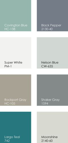 Benjamin Moore Coordinated House Paint Colors