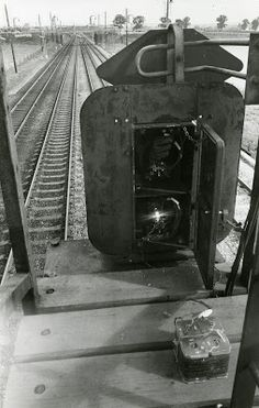 Image of signal box, with glove added by the Great Train Robbery robbers.
