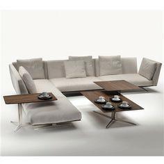 Flexform Evergreen Sectional Sofa - Style # 15Rxx, Leather Sectional Sofa & Contemporary Leather Sofa | SwitchModern