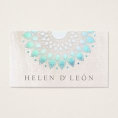 Elegant Turquoise Floral Lotus White Marble Business Card Gorgeous and colorful modern business card designs for women! A variety of beautiful designs for a variety of different businesses. Business Cards for Women Beauty Business Cards, Elegant Business Cards, Cool Business Cards, Business Card Size, Business Card Design, Salon Business Cards, Business Branding, Creative Business, Lotus Mandala