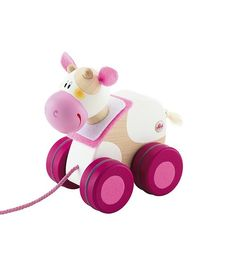 Mini Pull Along - Cow Mini Pull Along Cow is made with matte non-toxic (vegetable-based) colors and felt details. Made of hardwood. Designed by Sevi of Italy, Europe's oldest wooden toymaker. Toddler Toys, Baby Toys, Kids Toys, Mini Cows, Pull Along Toys, Pull Toy, Baby Games, Mom And Baby, Baby Baby