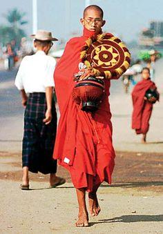 Monks, love the Mandala design