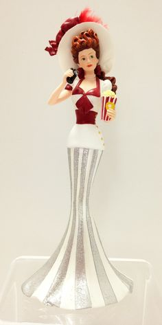Coney Island Lady Figurine - Seaside Memories of Coca Cola - Bradford Exchange