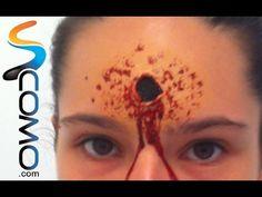 Maquillaje para Halloween ¿Cómo hacer un disparo? http://ini.es/YHA4MR #MaquillajeParaHalloween
