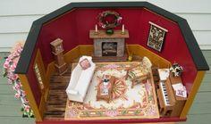 Miniature OOAK Roombox - Fancy Living Room in 1:12 Scale Handmade. $575.00, via Etsy.