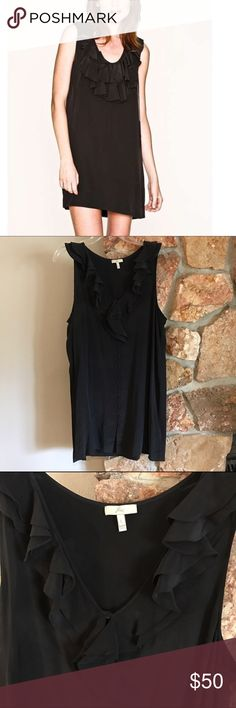 Joie silk ruffle mini dress Gorgeous silk mini dress/tunic by Joie. It buttons up, so slightly different than first picture but very similar fit and smile. Super slinky and soft. Excellent condition. Joie Dresses Mini