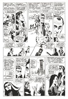 "Nick Fury, Agent of SHIELD in ""Dark Moon Rise, Hell Hound Kill"" pencilled by Jim Steranko and inked by Dan Adkins, Page 15. (Reprinted from UK Captain Britain.)"