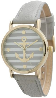 Women's Geneva Striped Anchor Style Leather Watch - Grey Watch Review - At Amazon Products Reviews, the privacy of our visitors is of extreme importance to us (See this article to learn more about Privacy Policies.). This privacy policy document outlines the types of personal information is received and collected by Amazon Products Reviews and how it is used.Log... - http://thequickreview.com/womens-geneva-striped-anchor-style-leather-watch-grey-watch-review/