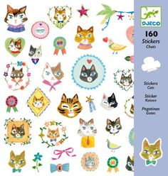 Djeco - Djeco Craft - Sticker Pack - The Cats - Aiko Fukawa - notrunofthemill