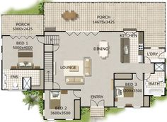 big bedroom house plan - Large House Plans