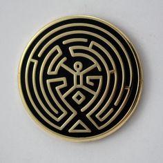 The Maze Westworld Inspired Enamel Pin by Enamelpinco on Etsy