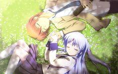 Anime Angel Beats!  Kanade Tachibana Yuzuru Otonashi Wallpaper