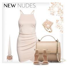Feeling a little nude today by kisses4everrr on Polyvore featuring polyvore, fashion, style, Givenchy, StyleRocks and Christian Louboutin