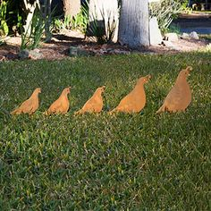 Look what I found at UncommonGoods: Quail Set Garden Sculpture for $45.00