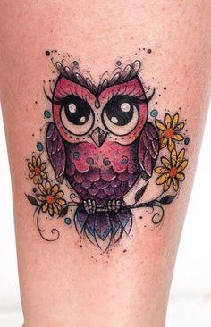 owl tattoo for women small & owl tattoo - owl tattoo design - owl tattoo for women - owl tattoo drawings - owl tattoo men - owl tattoo small - owl tattoo for women small - owl tattoo sleeve Baby Owl Tattoos, Cute Owl Tattoo, Owl Tattoo Small, Cute Tattoos, Beautiful Tattoos, Body Art Tattoos, New Tattoos, Tattoo Owl, Animal Tattoos
