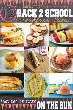 Easy Back To School Breakfast Ideas that can be eaten on the run! -Follow Driskotech on Pinterest