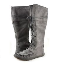 Women s Shoes UGG Australia Somaya Suede Tall Moccasin Boots Charcoal  New   Moccasin Boots 850acdd29