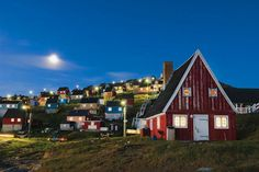 September in Upernavik, where the sun doesn't rise from November to February.