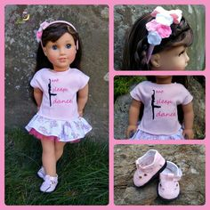 "American made ""Eat. Sleep. Dance."" handmade, complete doll outfit by upowlnightcrafting - pinned by pin4etsy.com"