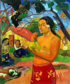 Paul Gauguin- Where Are You Going (Woman Holding a Fruit), 1893 - Canvas Art & Reproduction Oil Paintings