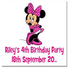 Kids Birthday Square Stickers KBSS 028