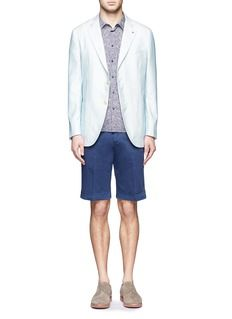 ISAIA Stripe cotton-silk blazer