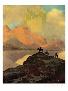 """illustration """"City of Brass"""" by Maxfield Parrish for Arabian Nights (published the Thousand and one Nights 1001 Arabian Nights. Art And Illustration, Art Illustrations, Botanical Illustration, Jackson Pollock, Keith Haring, Bernard Lewis, Maxfield Parrish, Robert Motherwell, Richard Diebenkorn"""