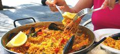 Paella s plodmi mora a so slaninkou