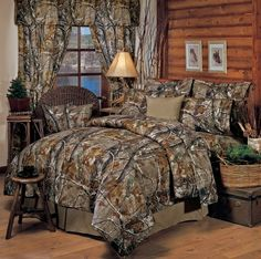 Realtree AP Brown Camo Bedding is for those who like realistic woods and forest looking pattern in brown camo.