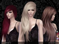 The Sims Resource: Vanity hairstyle by Stealthic • Sims 4 Downloads
