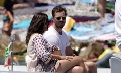 Jamie & Millie on holiday in Nerano, Italy. Jaime Dornan, Irish Men, Fifty Shades Of Grey, Dakota Johnson, Amelia, Couple Goals, Marriage, Romantic, Actors
