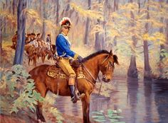 "Francis Marion was an American military oficer. He was ncknamed ""Swamp Fox"" because he was one of the founders of guerilla fighting. He served in the Continental Army and in the South Carolina militia. American Revolutionary War, American War, Early American, American History, Military Art, Military History, Military Uniforms, American Independence, War Of 1812"