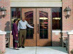 SL-19 AMP Flush Woodgrain Door | Fiberglass wood-look | Restaurant Doors | Special-Lite